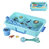 Water Beads Play Set - Sensory Toys for Kids with 16 oz of Water Beads, Sea Animals, Water Beads Tools - 20 Pieces Ocean Toy Figures with Container Storage for 3, 4, 5 Year Old Toddlers