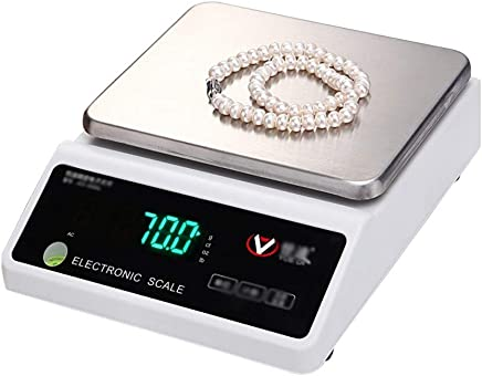 Kitchen Scales - Stainless Steel Scales, 4 Units Conversion, LED Night Vision Screen, Kitchen Home Commercial Plug-in Dual-use Multi-Function Precision Jewelry Electronic Scales - 3 Range Options