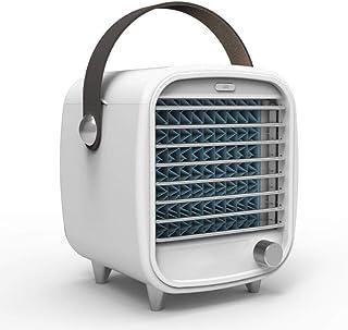 Refrigerador de Aire portátil, 3 en 1 Pequeño USB Personal Refrigerador de Aire Ventilador de Escritorio Mini purificador de Aire Humidificador Refrigeración, luz Nocturna, Ajuste Oficina en el hogar