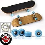 Fingerboard Finger Patineta De Dedos Profesional Maple Wood DIY Assembly Skate Boarding Mini Diapasón, Toy Juegos De Deportes Niños,B