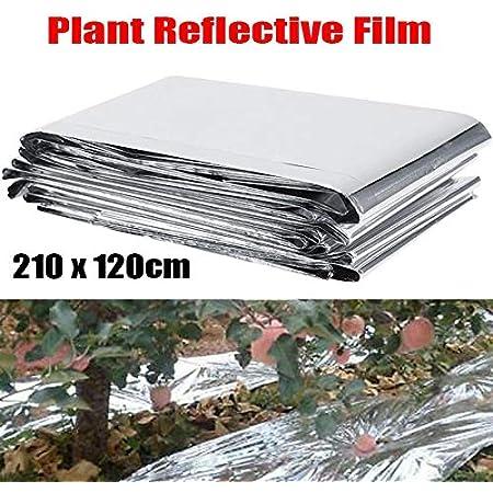 Augmente efficacement la Croissance des Plantes Lot de 6 Feuilles de Film Mylar r/éfl/échissant argent/é pour Serre de Jardin