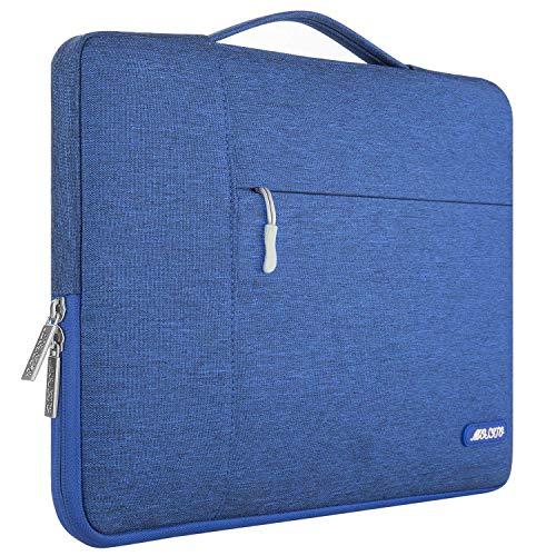 MOSISO Funda Blanda Compatible con 13-13,3 Pulgadas MacBook Air/MacBook Pro Retina/Ordenador Portátil, Poliéster Maletín Protectora Multifuncional Bolso, Azul Regio