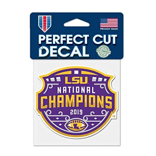 "WinCraft LSU Tigers 2019-2020 CFP National Champions Perfect Cut Decal (4""x4"")"