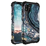 Samsung A10E Case, Casewind Samsung Galaxy A10E Case Marble 3 in 1 Heavy Duty Hard PC & Soft Silicone Hybrid Design Shockproof Anti-Scratch Rugged Bumper Protective Phone Case for Galaxy A10E 5.8 inch