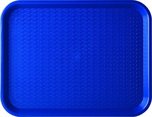 Carlisle CT141814 Café Standard Cafeteria / Fast Food Tray, 14' x 18', Blue (Pack of 12)