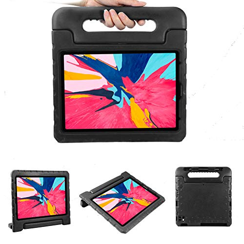 Kids Case For iPad Pro 12.9 Inch 2020 Shockproof Convertible Handle Stand Cover Light Weight Kids Friendly Super Protective Tablet Cover (BLACK)