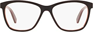 OX8155 Alias Round Eyeglass Frames, Amber/Demo Lens, 55 mm
