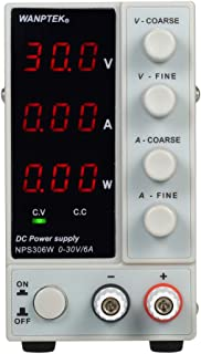 محول طاقة NPS306W 0-30 فولت 0-6 أمبير يعمل بتيار مستمر 3 أرقام شاشة LED عالية الدقة وقابلة للتعديل مزود طاقة صغير تيار متر...