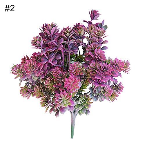 Goodtimes28 Künstliche Blumen, 1 Stück Kunstrasen, 7 Zweige, Gartendekoration, DIY Blumengesteck Kunstpflanze 2#