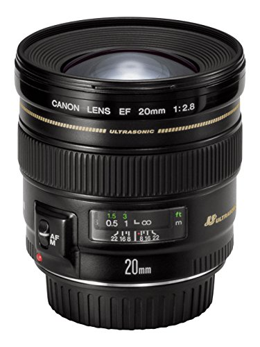 Canon EF 20mm f/2.8 USM - Objetivo para Canon (Distancia Focal Fija 20mm, Apertura f/2.8-22, diámetro: 72mm) Negro