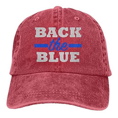 398 Volver The Blue Police Officer Deportes Denim Cap Ajustable Snapback Casquetas Unisex Plain Baseball Cowboy Hat Negro