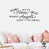 pegatinas de pared Wall Decal frases Decor Design Decal Set Up a Home Where Angels Love to Dwell