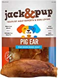 Jack&Pup Pig Ears for Dogs (18 Pack) Extra Thick Half Pigs Ears -...