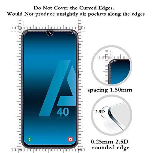 ANEWSIR Schutzfolie Kompatibel mit Samsung Galaxy A40 [2 Stück] Schutzfolie, Einfache Installation, Anti-Kratzen, Anti Bläschen, Panzerfolie Displayschutzfolie Folie.