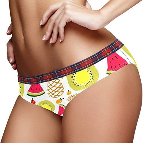 TIZORAX Zomer Fruit Watermeloen Ananas Kiwi Vrouwen Ondergoed Bikini Mode Dames Korte Broek