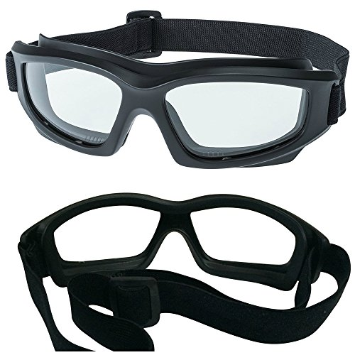 Clear Motorcycle Riding Goggles: Heavy-Duty Riding Goggles'No Foam' Design w/Hard Case, Microfiber...