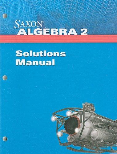 Saxon Algebra 2 Solution Manual
