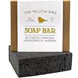 Activated Charcoal Soap Bar - Natural Detox Face Soap & Body Soap for Acne, Blackheads, Eczema, Psoriasis, Sensitive Skin. Black Soap Facial Cleanser for Oily Skin. Vegan, Non-GMO, Organic Ingredients