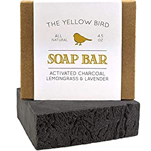 Activated Charcoal Soap Bar – Natural Face Soap & Body Soap for Acne, Blackheads, Eczema, Psoriasis, Sensitive Skin…