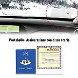 4R Quattroerre.it 32131 Porta Bollo con Disco Orario, Bianco