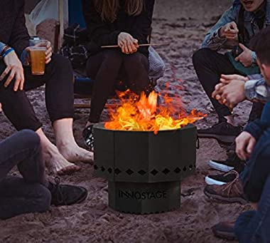 Smokeless Fire Bowl Pit for Outdoor Wood Pellet Burning Spark with Portable Carrying Bag, Firepit Grill of Fireplace Stove fo