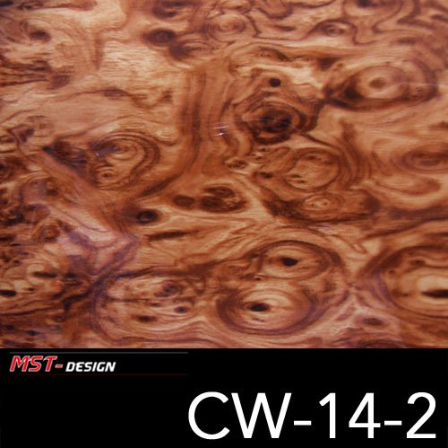 MST-DESIGN Wassertransferdruck WTD Holz Wurzelholz Wood CW 14-2 50 cm Breite 2 m Film/Wassertransferdruckfilm WTP Water Transfer Printing Hydrographics