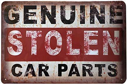 +Urbano Genuine Stolen CAR Parts Vintage Retro Tin Sign Home Pub Bar Deco Wall Decor Poster Size 8' x 12'