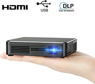Pocket Portable DLP 1080p Projector 100 Lumens High Contrast Ratio LED Light Output Pico Video Projector 120 Inch Picture Mini Mobile Projector with HDMI USB 3.5mm Aux Out by SSLLKE …