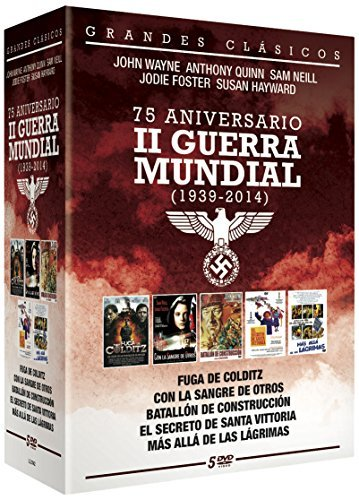 75 Aniversario II Guerra Mundial (5 DVD) - Fuga de Colditz + Con la Sangre de otros + Batallon de construcci?n + El secreto de Santa Vittoria + Mas alla de las Lagrimas.