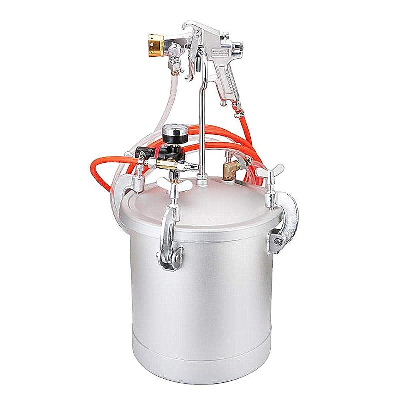 乳白年金ハーブBAOSHISHAN加圧式 エアースプレーガン塗装用 圧送タンク スプレーガン 容量10L 6穴口径2.0-4.0mm (口径2.5mm)