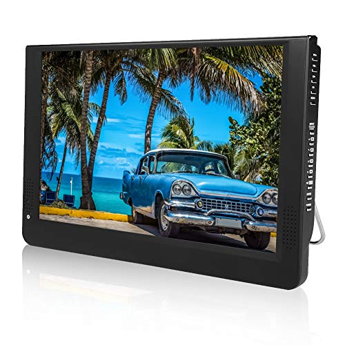 LEADSTAR 1080p DVB-T/T2 12 PulgadasTV LED Full HD TV Digital Portátil-TV Analógica,ATV,Pantalla Color TFT-LED 1500 mah Batería Recargable para Uso en Exteriores VGA, USB Reproductor y Grabador