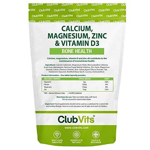 Club Vits - Calcium, Magnesium, Zinc & Vitamin D - 365 Tablets
