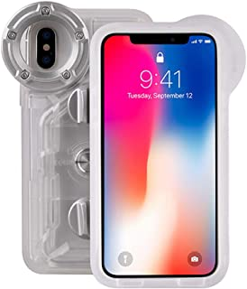 Underwater Photography Waterproof Phone Case Pouch for iPhone X/XS Enhanced Underwater Cell Phone Dry Bag with Armband O Lens Ring Full Sealed Waterproof Case IPX8 Certified