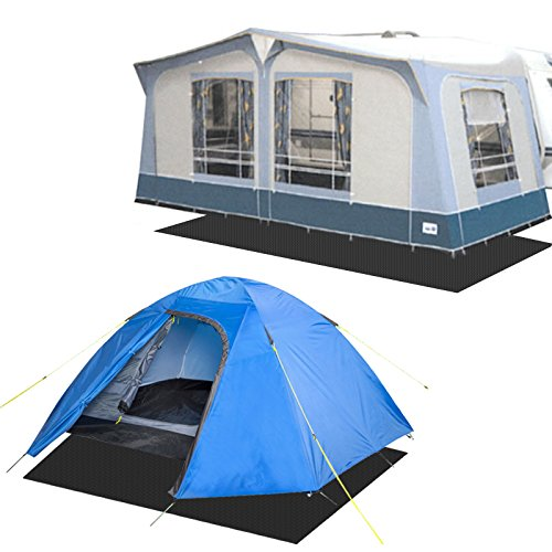 Goldcamp ECO Bodenmatte Vorzelt Teppichunterlage schwarz 2,5 x 5 Meter PP