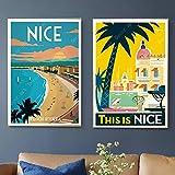 Provence Nizza Frankreich Pop Art Reise Leinwand Malerei