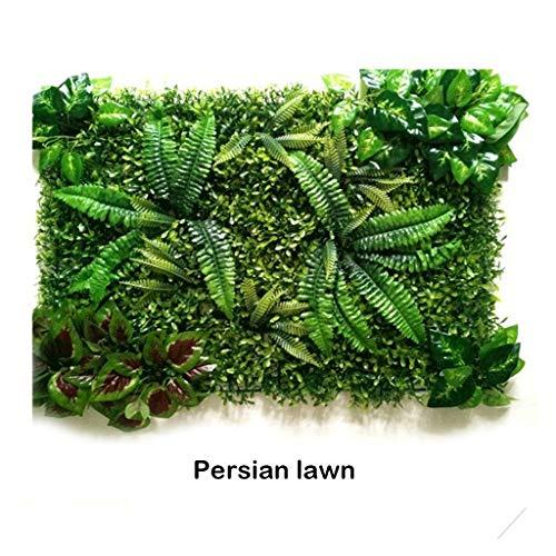 PING- Künstliche Grün Buchsbaum Hecke Panels, Rasenbrett 60x40cm / Stück, UV-Schutz Mit Kabelbinder Privater Bildschirm Hintergrundgrüne Pflanzenwanddekoration (Color : 2pack)
