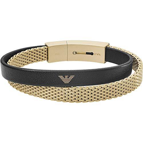 Emporio Armani EGS2715710 Herren Armband Edelstahl Gold schwarz 21 cm