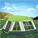 Carpas para Uso de 12-16 Personas Viajes Impermeable A Prueba de Viento Dos Habitaciones Un salón Gazebo Grande Carpa para Acampar al Aire Libre Refugio para el Sol Carpa para Fiestas (Color: Ver