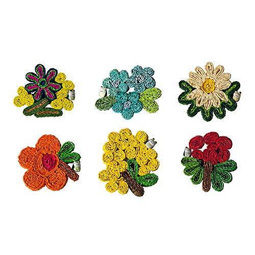 SELETTI Set. 6 Sottobicchieri in Paglia Florigraphie - Modelli Assortiti