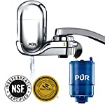 PUR FM-3700 Advanced Faucet Water Filter, Chrome 10 Advanced Faucet Filtration System: Featuring Sinple One Click Tool Free Attachment, There's Never Been an Easier or More Reliable Way to Get Healthier, Cleaner, Great Tasting Water Straight From Your Faucet Faucet Water Filter; PUR faucet filters provide 100 gallons of filtered water, or 2 3 months of typical use, before you need a replacement. Only PUR faucet filters are certified to reduce contaminants in PUR faucet filter systems WHY FILTER WATER? Home tap water may look clean, but may contain potentially harmful pollutants & contaminants picked up on its journey through old pipes. PUR water filters, faucet filtration systems & water filter pitchers reduce these contaminants