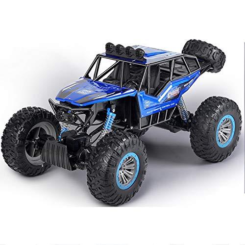 LJKD Coche de Control Remoto, vehículo Todoterreno de Alta Velocidad, 2,4 GHz, camión de Carreras eléctrico, Buggy, Coche de Juguete para Adultos y niños,Azul
