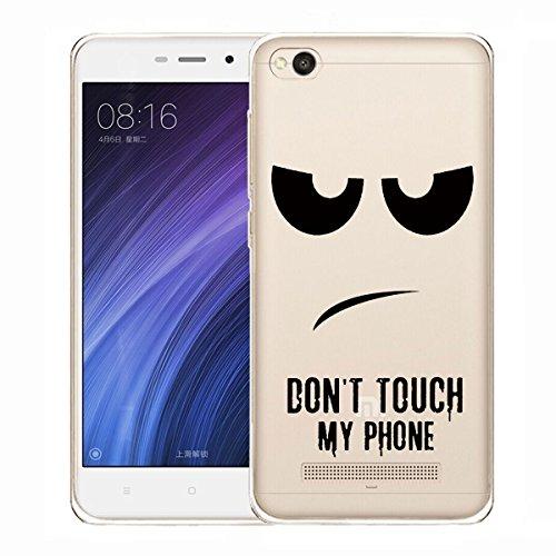 Funda para Xiaomi Redmi 4A Carcasa , YIGA Moda don't touch me Caso Cristal Transparente Funda TPU Gel Cubierta De Silicona Suave Tapa Case Cover para Xiaomi Redmi 4A (5.0 pulgadas)