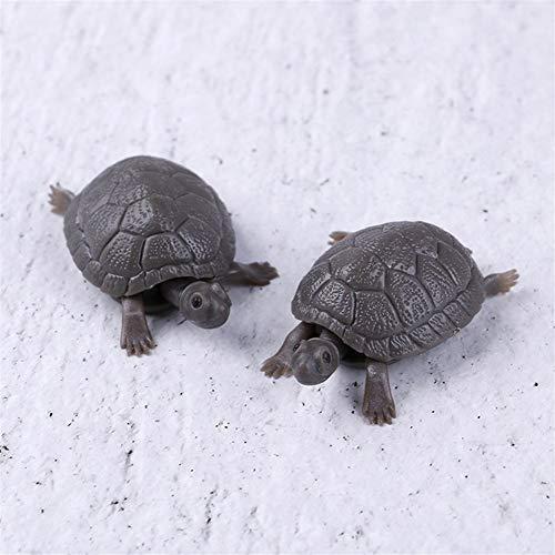 Jason Pitman Hohe Simulation gefälschte künstliche Schildkröte Aquarium Emulational schwimmende Kunststoff-Schildkröten for Aquarium Wasser Dekoration (Color : As pic, Size : One Size)