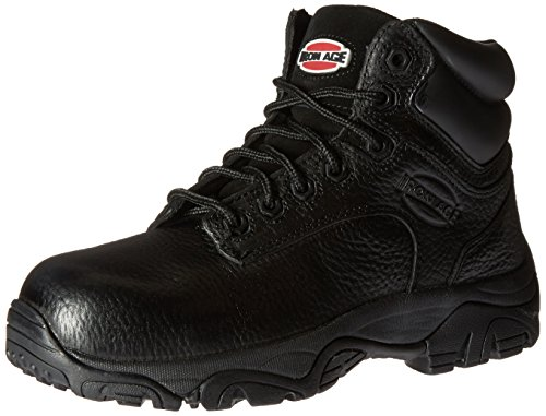 Iron Age Women's IA507 Trencher Fire and Safety Shoe, Black, 8.5 M US