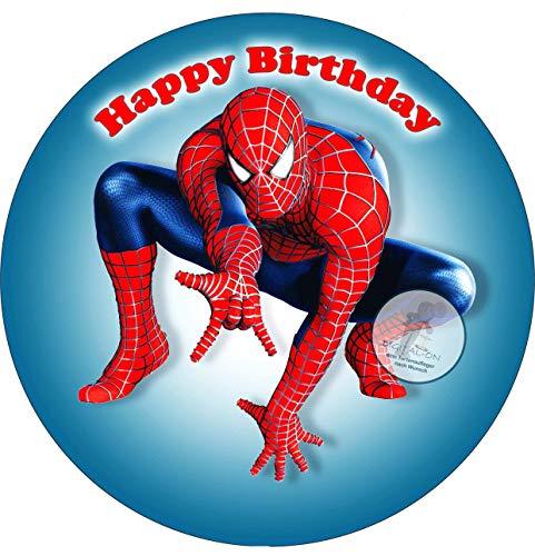 Spiderman, Essbares Foto für Torten, Tortenbild, Tortenaufleger Ø 20cm - Super Qualität, 0139w