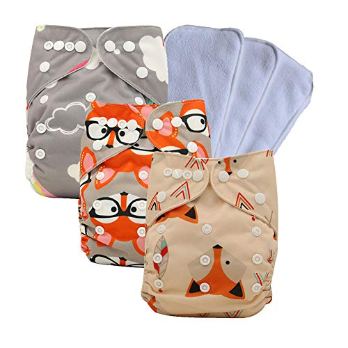 Ohbabyka Reusable Washable Baby Boys Girls Pocket Cloth Diapers with a Insertohbabyka Wiederverwendbare Unisex Baby Tuch Pocket Windeln All in One mit 1?weichen Tuch inneren