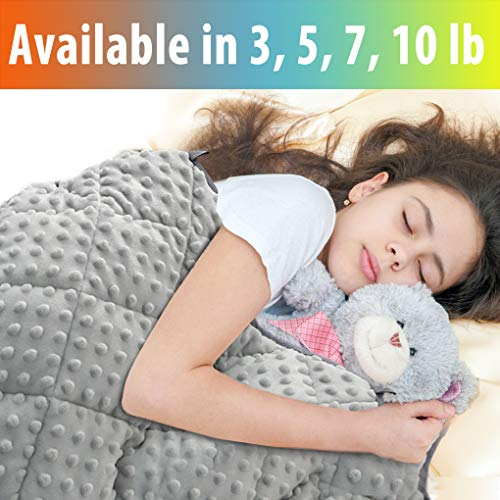 MAXTID Weighted Blanket for Kids 7 lbs 41x60 Luxurious Kids Heavy Blanket with Glass Beads, Best for 60-80lb Children