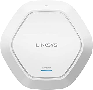 Linksys LAPAC1200C AC1200 Wireless Access Point for Business (Cloud Management PoE WiFi Access Point),White