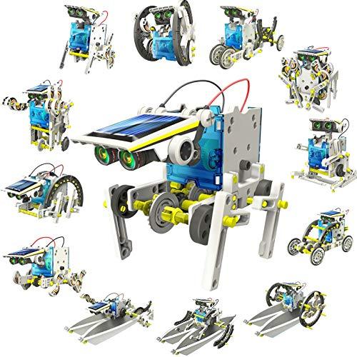 DigHealth 13-in-1 Juguete Robot Solar, Kit de DIY Robots, Alimentado por Solar Juguetes de Construcción, Juguetes Stem Educativa para Niños de 8 a 12 años