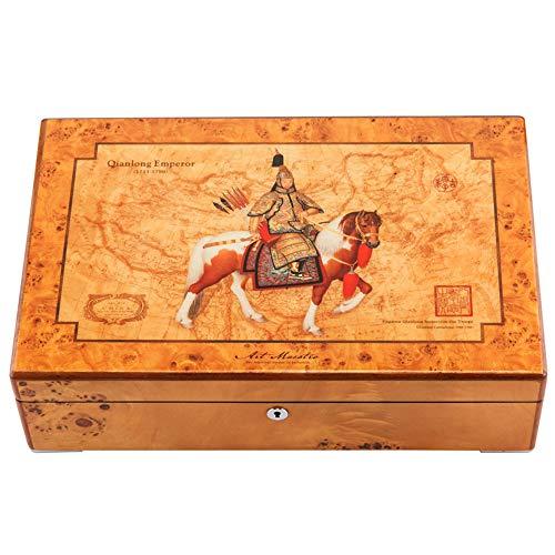 irugh Caja de joyería, Madera sólida de la Caja de joyería de la Laca del Piano Ver joyería Pulsera aretes Anillo Reloj colección Caja de Almacenamiento